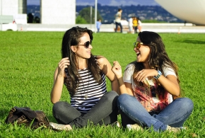 Girl Friends Laughing